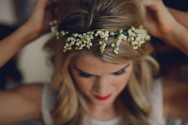 Bridal Guide - The Language of Flowers  3 Different Floral Crown Looks 4c6cb650e72