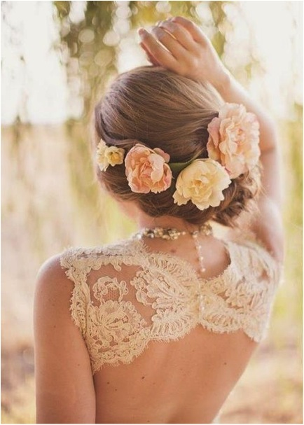 Bridal Guide The Hottest Wedding Hairstyle Trend On Pinterest Flowers