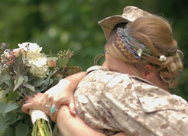 Marine Surprises Sister on her #Wedding Day