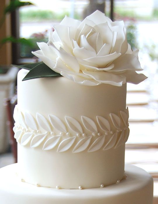 Simple Ingredients for a #DIY White #Wedding Cake